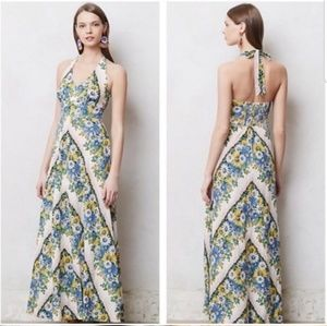 Anthropologie Postmark Soraya Halter Maxi Dress